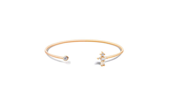 Little Ones Paris Jonc simple Fille or rose 18ct diamant
