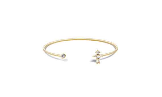 Little Ones Paris Jonc simple Fille or jaune 18ct diamant