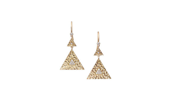 Gilded Duo Drop earrings