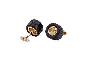 Rolling Onyx cufflinks