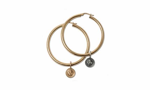Nana Fink Loewenkind capsule earrings with pendants