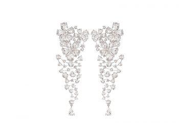 Nirav Modi - Jasmine cut diamonds Cascade Earrings