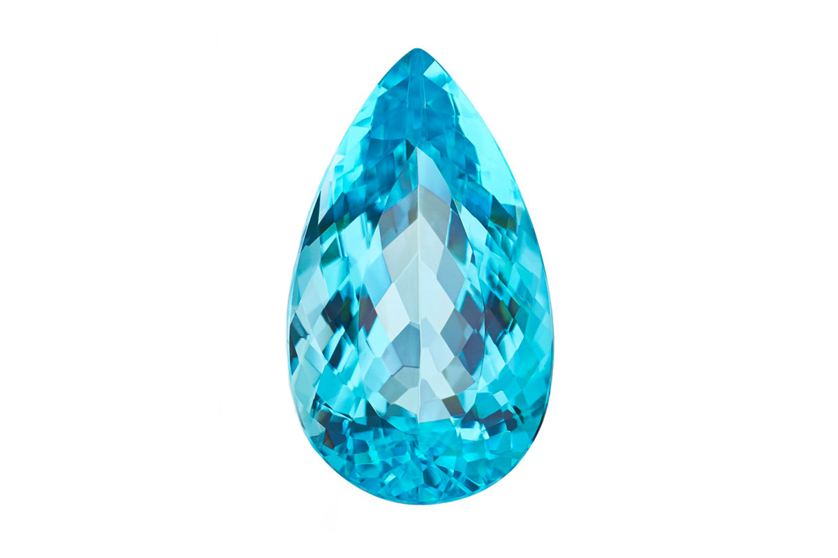 Paraiba Tourmaline stone pear cut