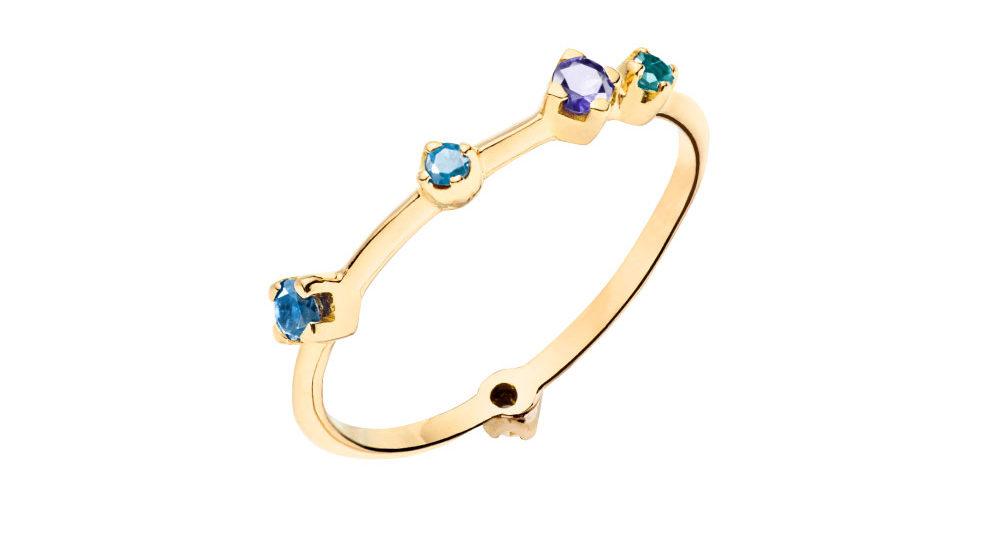 Acqua Blue Boheme ring