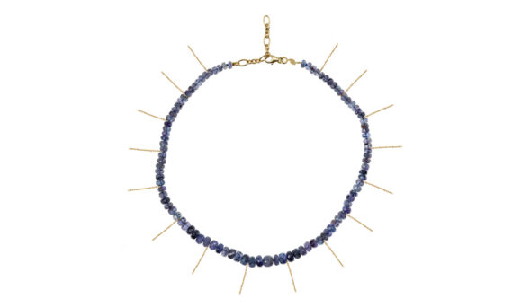 Moonlight choker with fringe gold