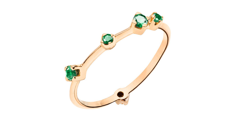 Emerald Boheme ring