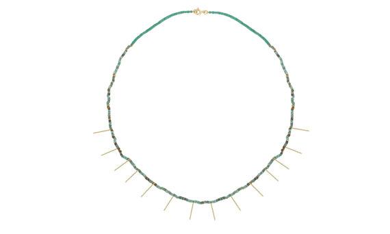 Rivka Nahmias Mini Chker avec franges et turquoises
