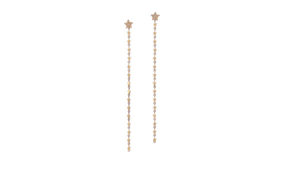 Spallanzani Jewelry Stella chain earrings diamond and gold