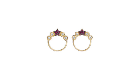 Spallanzani jewelry Stella earrings with red stars