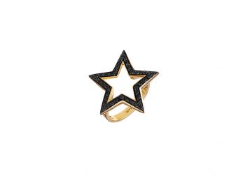Stella Star ring with black