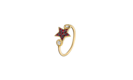 Spallanzani Jewelry Bague Stella Star en or 18ct rubis