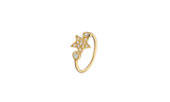 Spallanzani Jewelry Bague Stella star en or 18ct saphir blanc