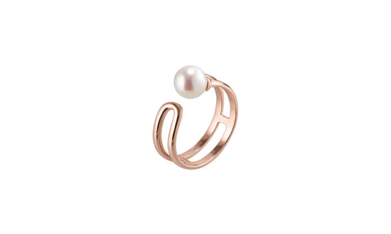 U Lock Me Japanese cultured pearl ring