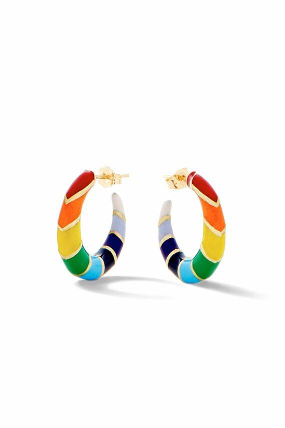 Alison Lou Petite V Hoops Rainbow