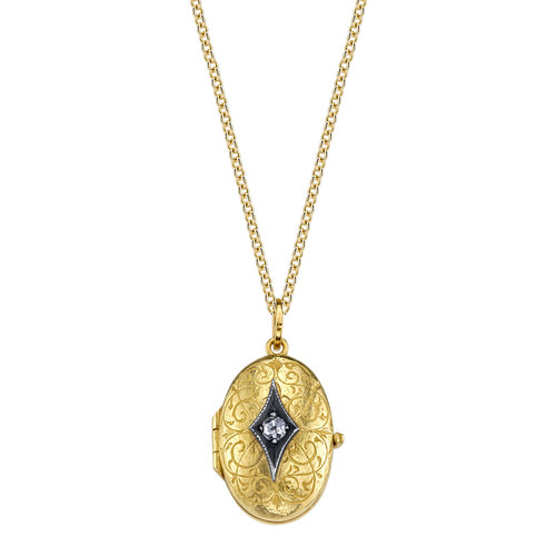 Arman Sarkisyan Locket pendant mounted on yellow gold