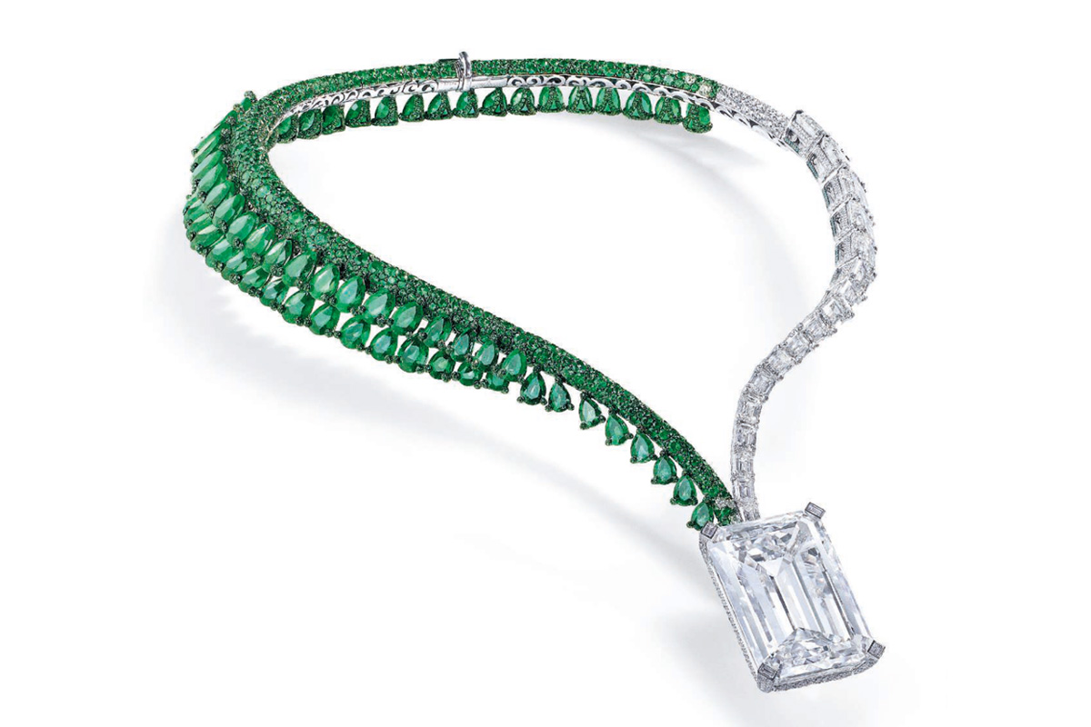 de Grisogono The Art of de Grisogono Creation I Necklace featuring a 163.41 carat emerald-cut diamond