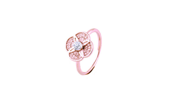 Eleuterio Blossom gold filigree 6 diamonds ring white goldEleuterio Blossom gold filigree 6 diamonds ring white gold