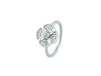 Blossom gold filigree 6 diamonds ring
