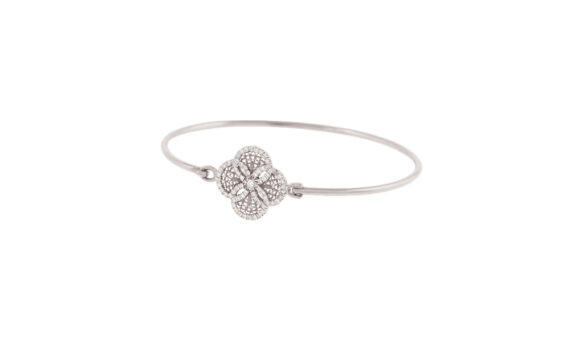 Eleuterio Blossom gold filigree bracelet white gold