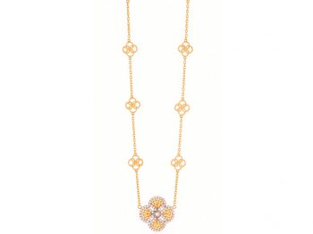 Blossom gold filigree diamond sautoir