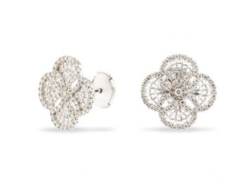 Blossom gold filigree large studs