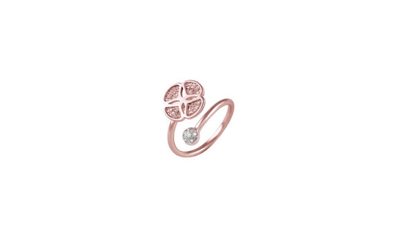Eleuterio Blossom gold filigree open ring rose gold