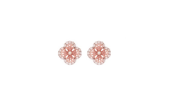 Eleuterio Blossom gold filigree small studs rose gold