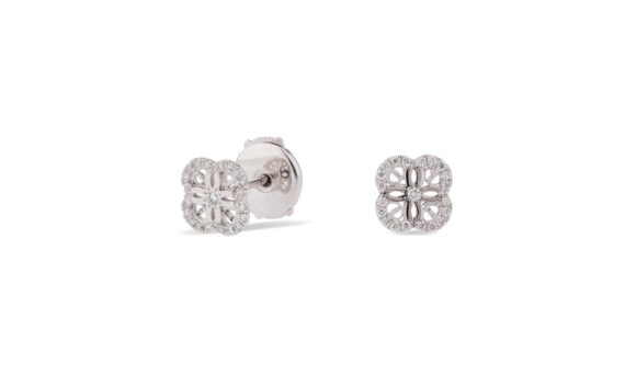 Eleuterio Blossom gold filigree small studs white gold