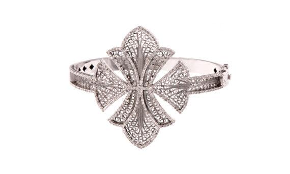 Eleuterio Couture bracelet mounted on 18ct white gold