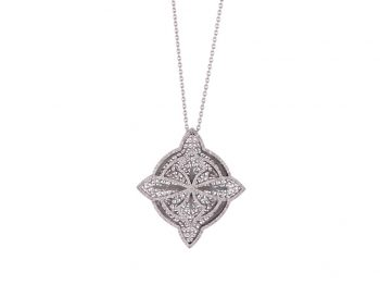 Couture white gold filigree necklace