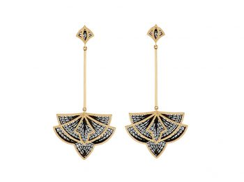 Couture yellow gold filigree earrings