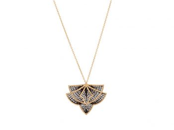 Couture yellow gold filigree necklace