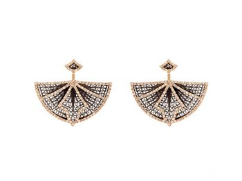 Couture yellow gold filigree ear cuffs