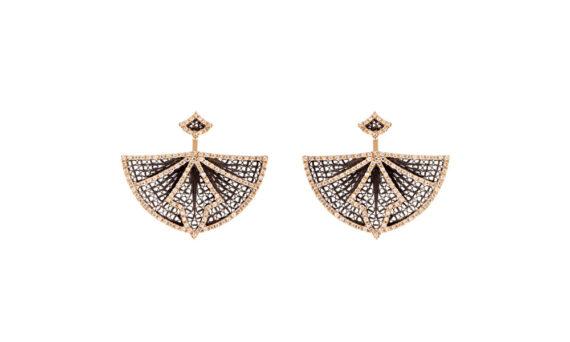 Eleuterio Couture yellow gold filigree ear cuffs