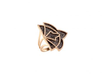 Couture yellow gold filigree ring