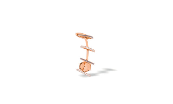 Eleuterio Dentelle gold filigree small earcuff rose gold