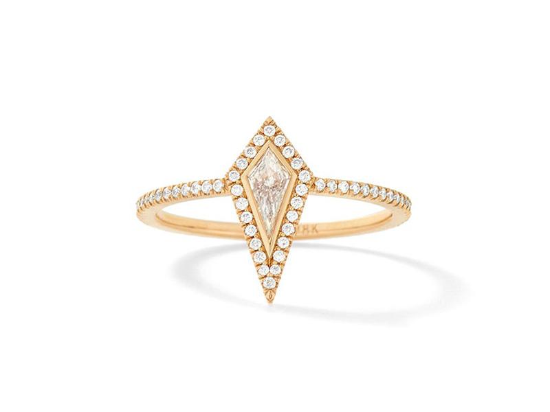 Eva Fehren The Ezzat ring mounted on rose gold with white diamonds
