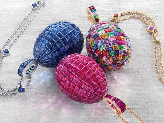 Fabergé Mosaic egg pendant