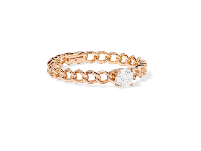 Jemma Wynne - Ring mounted on rose gold with diamond