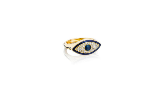 Misahara Evil Eye Signet ring