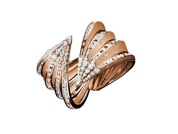 Reza Dune bracelet diamonds lasted and polished pink gold