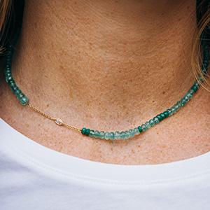 Rivka Nahmias Choker Emerald