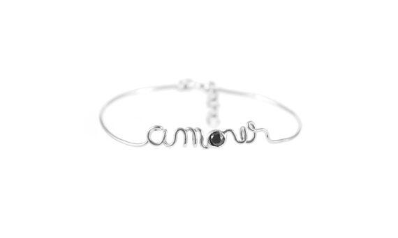 Amour white gold bracelet