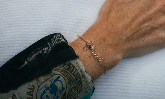 By Elia Forever bracelet or jaune diamant noir
