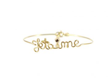 Je t'aime yellow gold bracelet