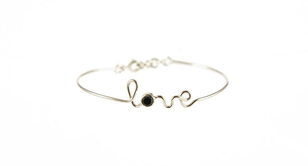 Love white gold bracelet