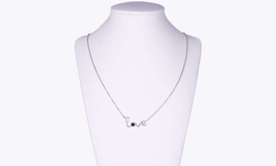 By Elia Love necklace white gold and black diamond
