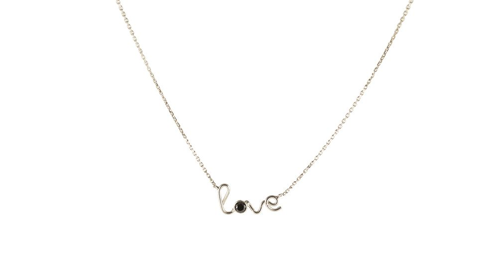 Love one black diamond necklace
