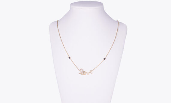 By Elia Love necklace yellow gold black diamonds