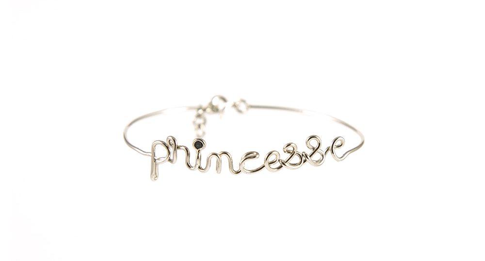 Bracelet Princesse or blanc